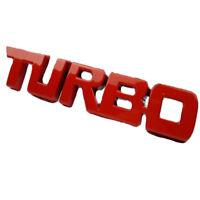 1pc 3D TURBO Word Letter Sport Auto Sticker Plating Metal Logo Emblem Badge