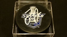 Justin Abdelkader signed Official Red Wings 2008 Stanely Cup Puck COA!