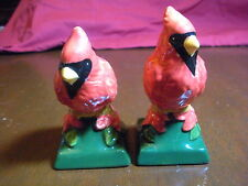 S&P Set - Cardinal Bird Figurines- Bright Shiny Colored Figures