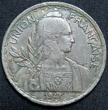 1947 French Indo China 1 Piastre Coin