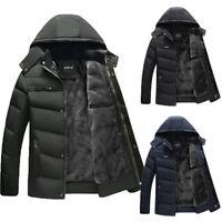 Fashion Mens Slim Jacket Warm Thicken Hoodie Hooded Coat Parka Winter Outwear CA