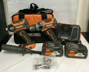 RIDGID R9205 BRUSHLESS 18V CMPCT HAMMER DRILL/DRIVER KIT, F M