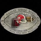 Shrine Shriners Bowl Football Game Championship KS 90s 1992 NOS Vtg Belt Buckle
