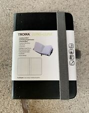 TROIKA Black LILIPAD DIN A7 NOTEPAD Dot Matrix Ruler Perforated Pages Note Book