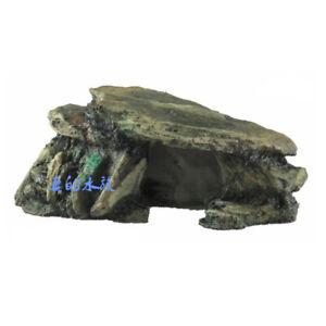 Fish Tank Decoration Aquarium Hiding Cave Rock Terrarium Accessories Stones Hot
