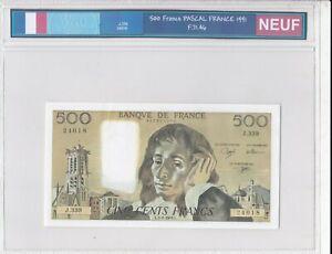 BILLET DE 500 FRANCS PASCAL 1991 NEUF!!!