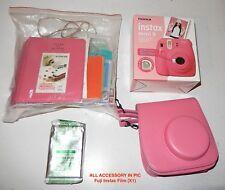 FujiFilm Instax Mini 9 Instant Camera, Fuji Instax Film (X1), w Carrying Case