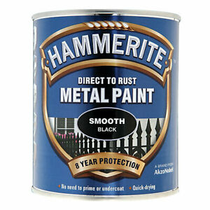 Hammerite Direct To Rust Metal Paint - SMOOTH 2.5Ltr - 9 COLOURS