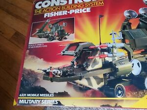 VINTAGE FISHER PRICE CONSTRUX MILITARY SERIES 6331 MOBILE MISSILES w BOX