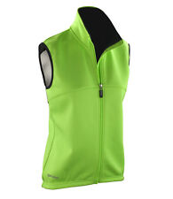 SPIRO Ladies Sleeveless Soft Shell Gilet Body Warmer - Run Bike Outdoor Sport L Neon Green