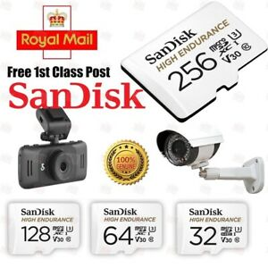SanDisk 32GB 64GB 128GB 256GB High Endurance microSD Memory Card CCTV DashCam