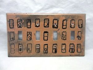 SIGNED KLINE abstract copper enamel 4  toggle switchplate cover