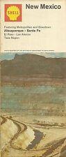 1968 SHELL OIL Copper Mine Road Map NEW MEXICO Albuquerque Santa Fe Donnelley