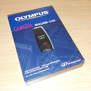 Olympus Camedia MAUSB-100 USB Flash Card Reader Dongle New Boxed Opened Unused