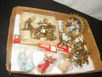 Christmas Angel Ornament Figures Vintage Lot Plastic (D5)