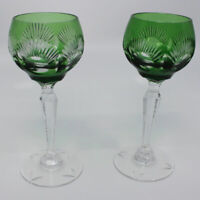 Vintage Pair of Emerald Cut to Clear Cordials