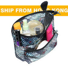 Small Organizer Reversible Pouch Travel Insert Handbag Makeup Bag Purse Cosmetic