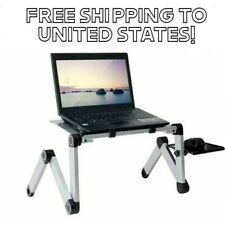 Portable Adjustable Aluminum Laptop Desk Stand Table Vented Ergonomic TV Bed Lap