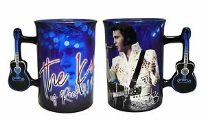 Elvis Presley White Jumpsuit Coffee Mug with Guitar Handle