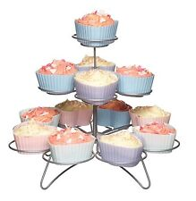 Kitchen Craft 3 Tier Wire 13 Cup Cake Cupcake or Muffin Wire Tree Display Stand