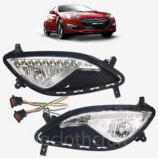 OEM LED Fog Light Lamp & Cover,Connector LH&RH Set for Hyundai Genesis Coupe2013
