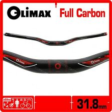 Climax Full 3K Carbon Riser Handlebar 31.8 x 680 mm MTB Bike Black New