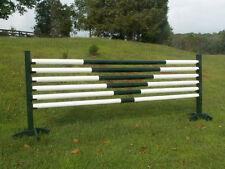 Horse Jumps 6/12ft V-Design CUT Wooden Rails - Choice of Color