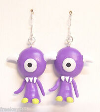 "Harajuku Japan The Gooli Monsters Purple Koz Mini Art Toys 2"" Dangle Earrings"