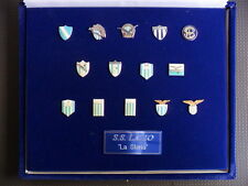 COFANETTO SPILLE SS LAZIO LOGHI STORICI MAGLIE DAL 1900 OFFICIAL PINS /30