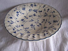 Staffordshire England Oakwood blau weiß Blumen Swirl Felge Suppe Müsli Schüssel D