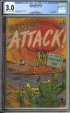 ATOMIC ATTACK #5 CGC 3.0 LT/OW PAGES