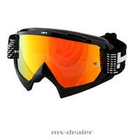 HP 7 HP7 MX Brille schwarz rot verspiegelt Motocross Enduro  MTB BMX Crossbrille