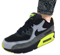 Nike Unisex 724824-002 Air Max 90 Leather Low-Top Sneaker black Size 5.5