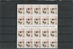UNITED STATES  2000 LOVE-ROSE FLOWERS SET BOOKLET MNH VF