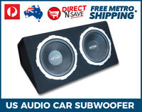 US Audio Dual 600W SubWoofers Box In Car Sub USA12BT