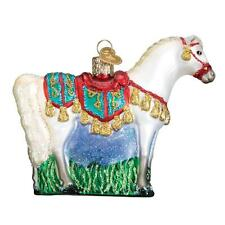 WHITE ARABIAN HORSE OLD WORLD CHRISTMAS GLASS EQUESTRIAN ORNAMENT NWT 12507