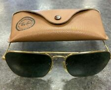 Vintage Ray Ban Caravan Aviator Bausch And Lomb Gold Frame Sunglasses 58-16 ~
