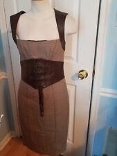 bebe wool leather dress 6. #816