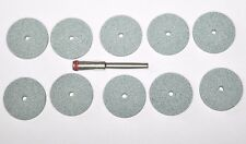 10pcs x 1 Mandrel 20mm. Grinding Stone Wheel Accessories For Dremel Rotary Tool