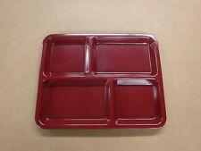 "Box of 12 Carlisle Compartment Tray Kl444-85 Dark Cranberry 8.5""x11"""