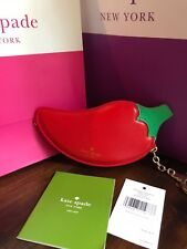 Kate Spade Chili Pepper Coin Purse, Prickly Pear, Zip Closure, New, Tags