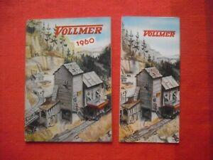 Rare Vintage VOLLMER  1960 Catalogue Model Railway Guide Buildings & leaflet
