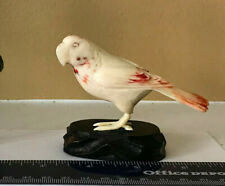 VTG Chinese/Japanese Hand Carved /Colored Patrrot Bird Figurine-defect