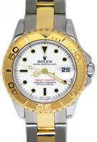 Rolex Yacht-Master 18k Yellow Gold/Steel White Dial Ladies 29mm Watch B/P 169623