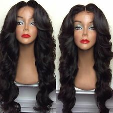 22 inches Brazilian virgin unprocessed human hair lace front wig body wave1B