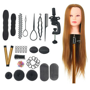 Mannequin Head with Clamp Holder for Braiding Hair Styling Practice Manikin B2M6