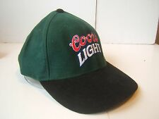Coors Light Beer Hat Green Snapback Baseball Cap