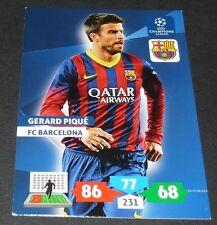 GERARD PIQUE FC BARCELONA Barça UEFA PANINI FOOTBALL CHAMPIONS LEAGUE 2013 2014