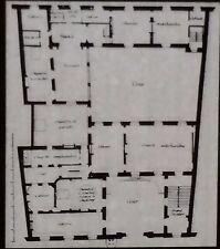 Upper Floor Plan, Hotel Amelot de Bisseuil, Paris, FR, Magic Lantern Glass Slide