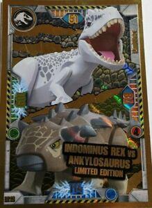 Lego Jurassic World Trading Card LE13 Indominus Rex VS Ankylosaurus Limited NEU+